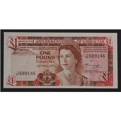 Gibraltar 1975 1 Pound