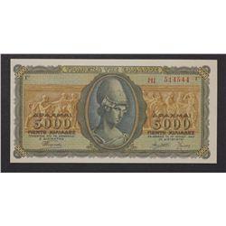 Greece 1943 5000 Drach
