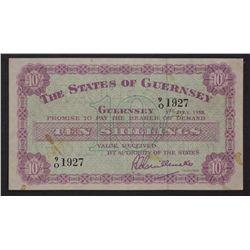 Guernsey 1958 10 Shillings