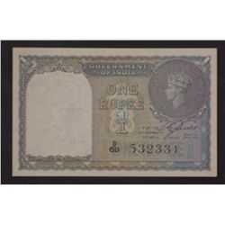 India 1940 1 Rupee