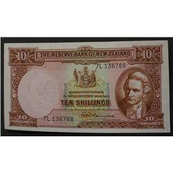 New Zealand 1956/57 10 Shillings