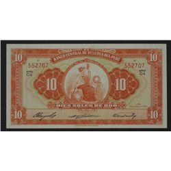 Peru 1958 10 Soles