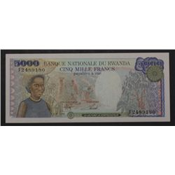 Rwanda 1988 5000 Francs