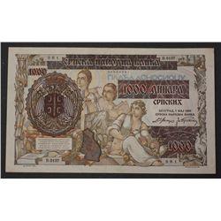 Serbia 1941 1000 Dinara