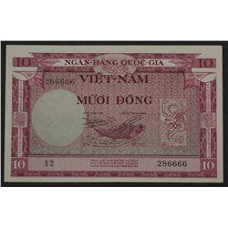 South Vietnam 1955 10 Dong