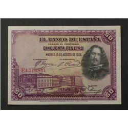 Spain 1928 50 Pesetas