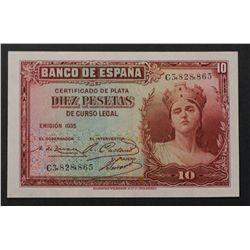Spain 1935 10 Pesetas