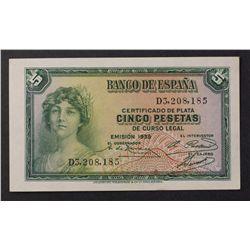Spain 1935 5 Pesatas
