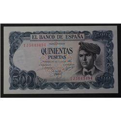 Spain 1971 500 Pesetas