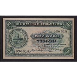 Timor 1940 10 Avos