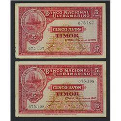 Timor 1940 5 Avos