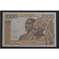West African States 1961/65 1000 Francs