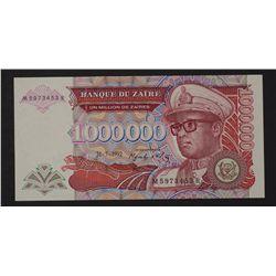 Zaire 1992 1,000,000 Zaires