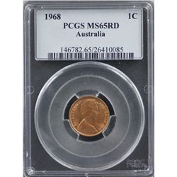 1968 1C PCGS MS 65 Red