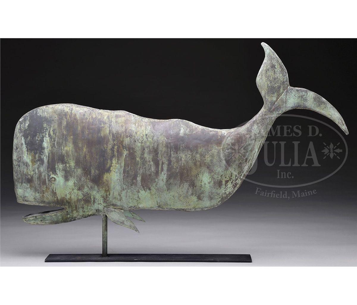 Antique sperm whale weather vane