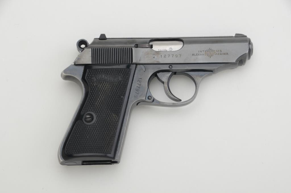 """Walther PPK/S DA semi-auto pistol,  22LR cal , 3-1/4"""" barrel, blue finish,  no magazine, checkered"""