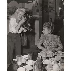 Betty Grable and Sonja Henie Original Vintage Photo
