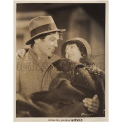 Janet Gaynor & Mary Duncan collection of 2 original stills from F. W. Murnau's lost classic 4 Devils