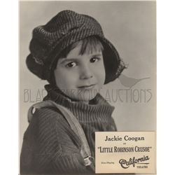 Jackie Coogan 1920s collection of (2) original portraits including Little Robinson Crusoe