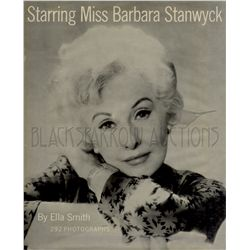 Starring Miss Barbara Stanwyck Signed Book