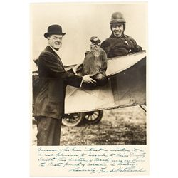 First U.S. Air Mail Delivery Signed Photo