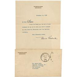Eleanor Roosevelt Signed Letter