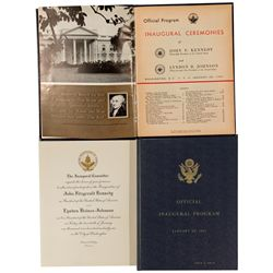 Kennedy and Johnson Official Inaugural Program and Invitation