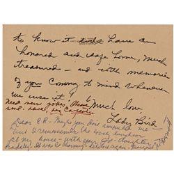 Lady Bird  Johnson Autograph