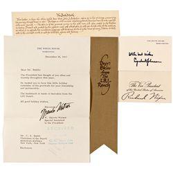 Presidents Lyndon Johnson and Richard Nixon Signed Memorabilia