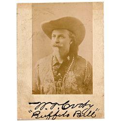 Buffalo Bill Printed Real Photo and Signatures