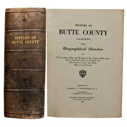 Butte County, California History and Biographical Sketches, Book