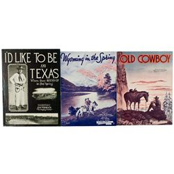 Old Western Songs Sheet Music