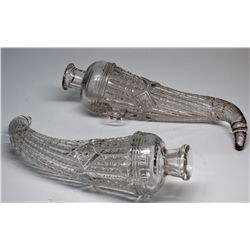 Pair of Antique Glass Auto Vases