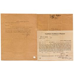 AZ,Safford-Graham County,Candidates Certificate of Expense *Territorial*