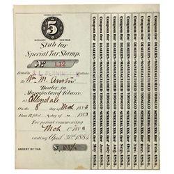 Dakota,-,Collection of Tobacco Receipts *Territorial*