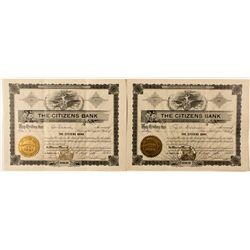 Dakota South,Buffalo Gap-Custer County,Citizens Bank Stock Certificates