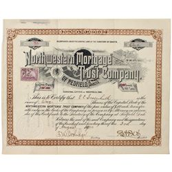 Dakota South,Redfield-Spink County,Northwestern Mortgage Trust Co. Stock Certificate