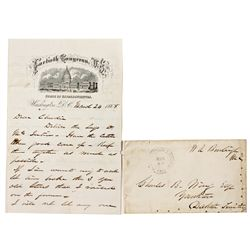 Dakota South,Yankton-,Burleigh Letter *Territorial*
