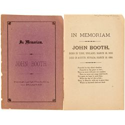 NV,Austin-Lander County,John Booth In Memoriam Booklet