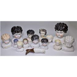 Germany-,Porcelain Doll Heads