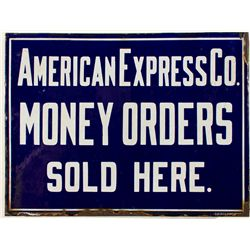 American Express Co. Money Orders Sold Here Railroad Sign