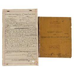 AZ,-Graham County,Arizona RR Legal Papers *Territorial*