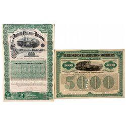Dakota South,-,Railroad Stock Certificates