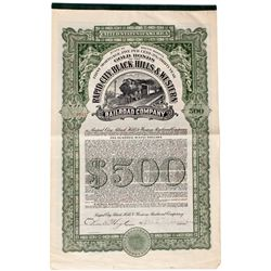 Dakota South,-,Rapid City Black Hills & Western Railroad Company Stock