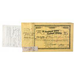 Dakota South,Deadwood-Lawrence County,Deadwood Central Railroad Co. Stock Certificate