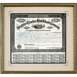 NV,Virginia City-Storey County,Virginia & Truckee Railroad Bond Certificate
