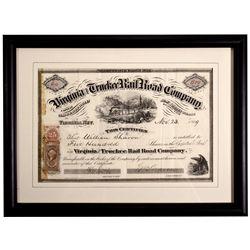 NV,Virginia City-Storey County,Virginia & Truckee Railroad Stock Certificate