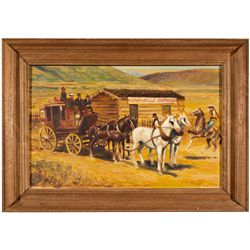 UT,Salt Lake City-,Gary Smith Oil Painting