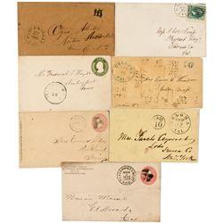 CA,Placerville, Coloma-El Dorado County,El Dorado Postal Covers Group