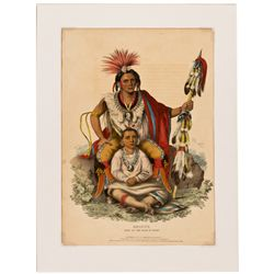 Keokuk, Chief of the Sauks and Foxes Lithograph